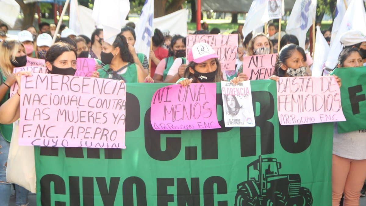 Distintas agrupaciones femeninas acompañaron al colectivo Ni Una Menos que organizó una protesta a nivel nacional pidiendo un fin a los femicidios y también apuntaron contra las autoridades de seguridad en Mendoza y el país.