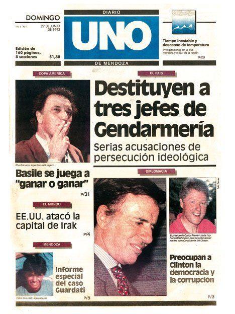 20 años de UNO en 20 tapas del diario