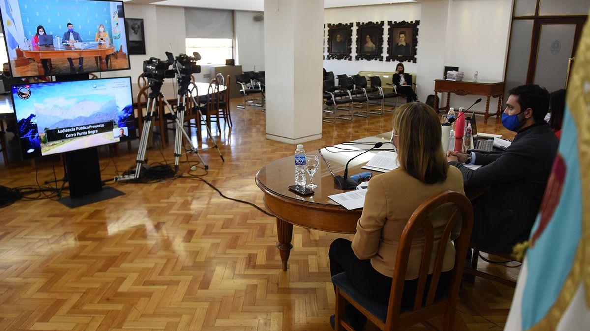 Más de 600 personas participaron como oyentes de la audiencia virtual que se hizo por el proyecto Cerro Punta Negra.