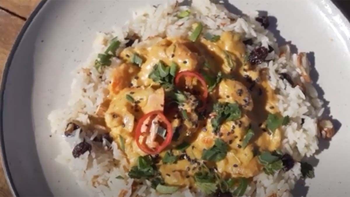 Receta para hacer curry de langostinos