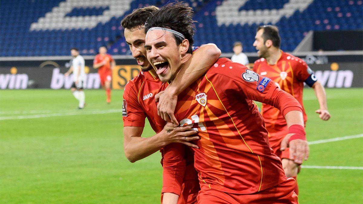 Macedonia dio el batacazo y dejó en ridículo a Alemania