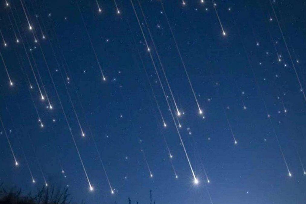 Hermoso. Una lluvia de estrellas de podrá ver esta noche.