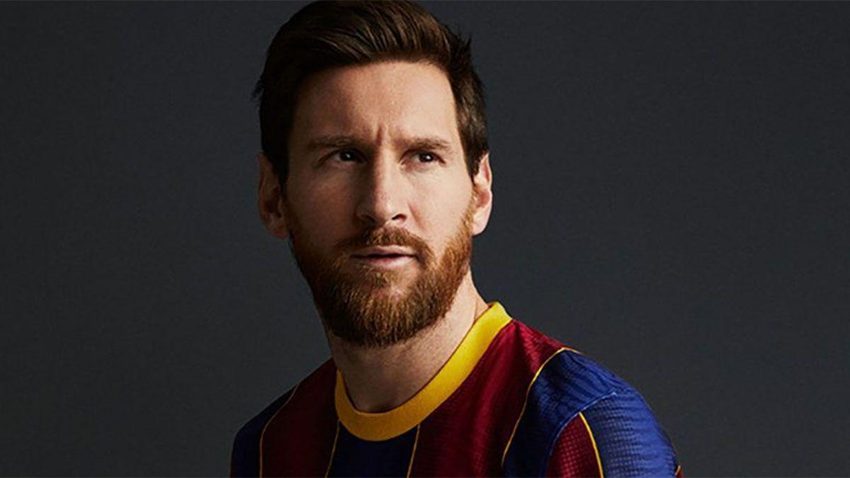 Messi aparece en la promoción de la camiseta del Barcelona