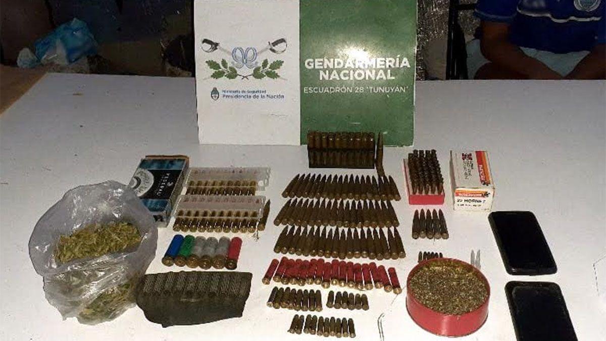 Secuestraron 40 plantas de marihuana, semillas y casi 200 proyectiles