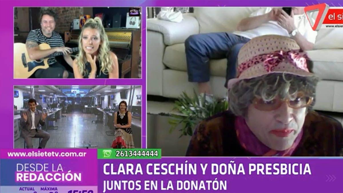 Clarita Ceschin y Doña Presbicia estarán presentes en el programa de la DONATÓN