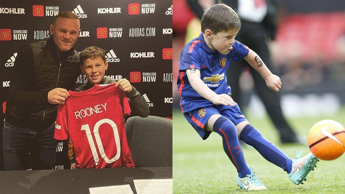 El hijo de Rooney firmó contrato con Manchester United