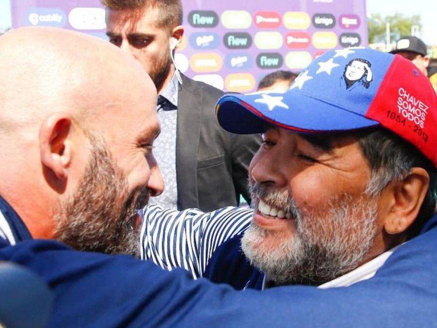 El Gallego Méndez y Diego Maradona trabajaban juntos en Gimnasia La Plata.