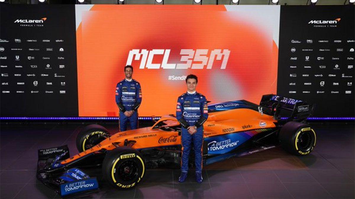McLaren presentó su nuevo modelo para la temporada 2021