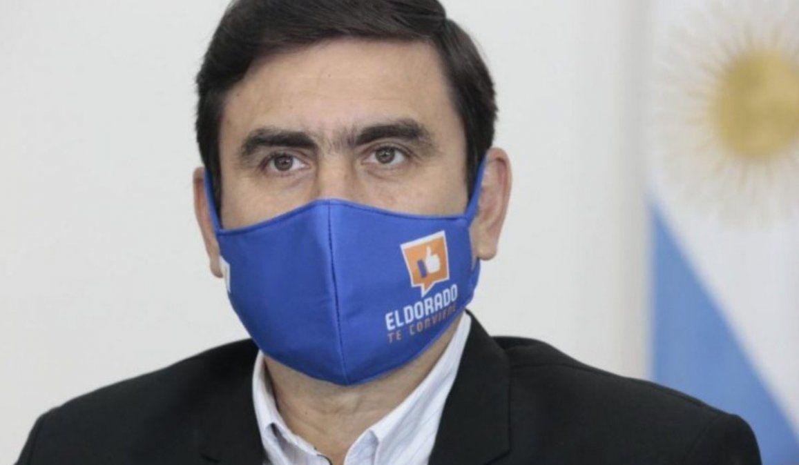 El intendente de Eldorado Fabio Martínez