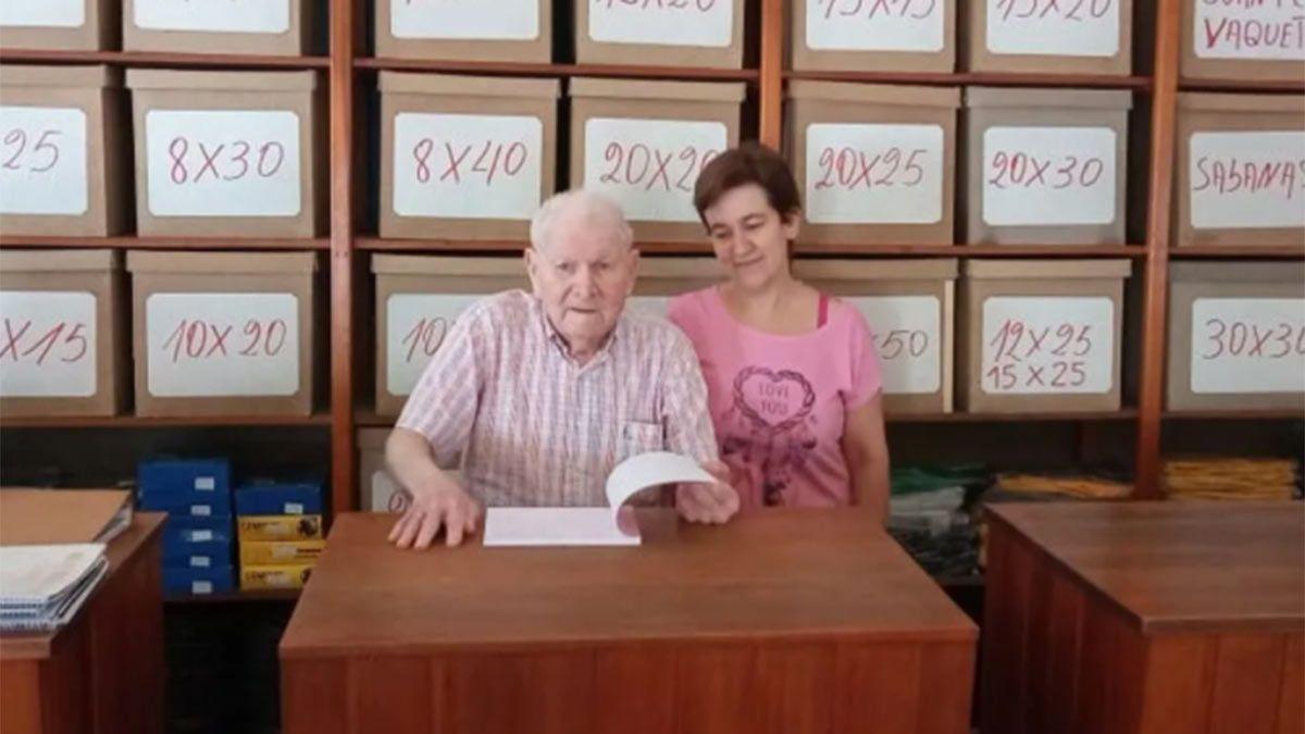 El empresario de 84 años le dejó su empresa a Deolinda
