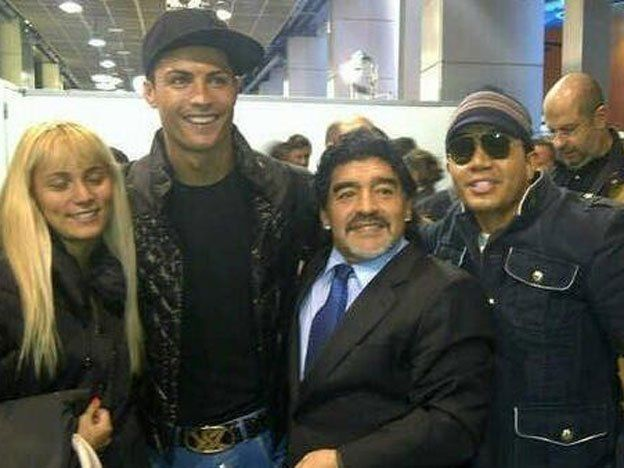 Cristiano y Maradona festejaron juntos