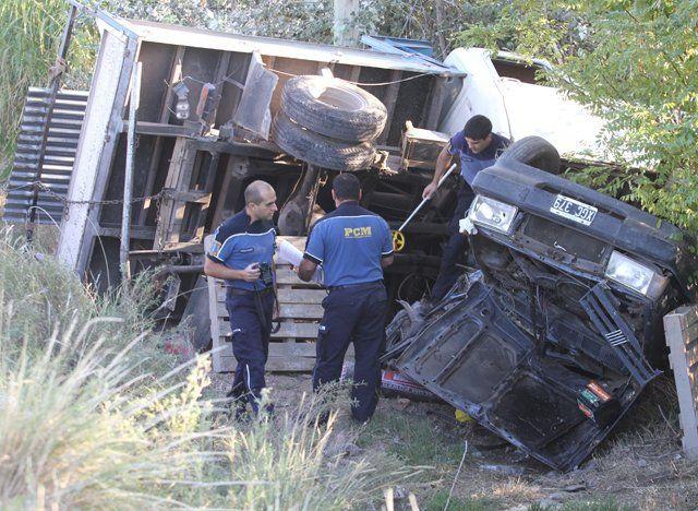 Violento accidente en Cañada Seca con dos lesionados