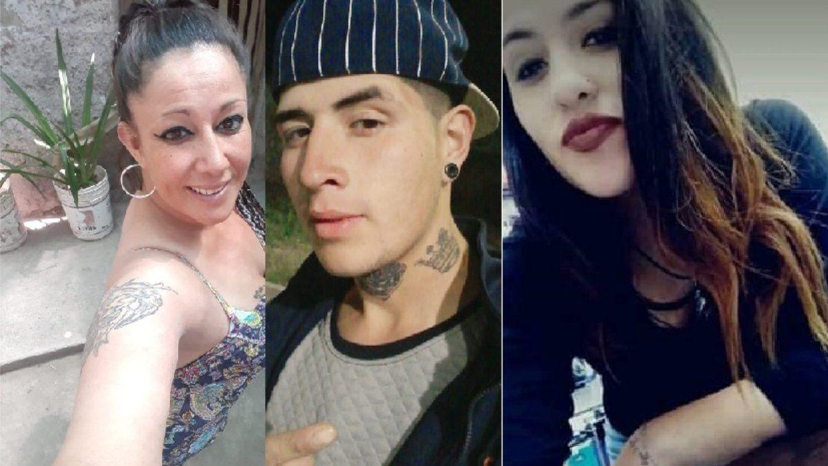 La familia detenida en Fray Luis Beltrán.