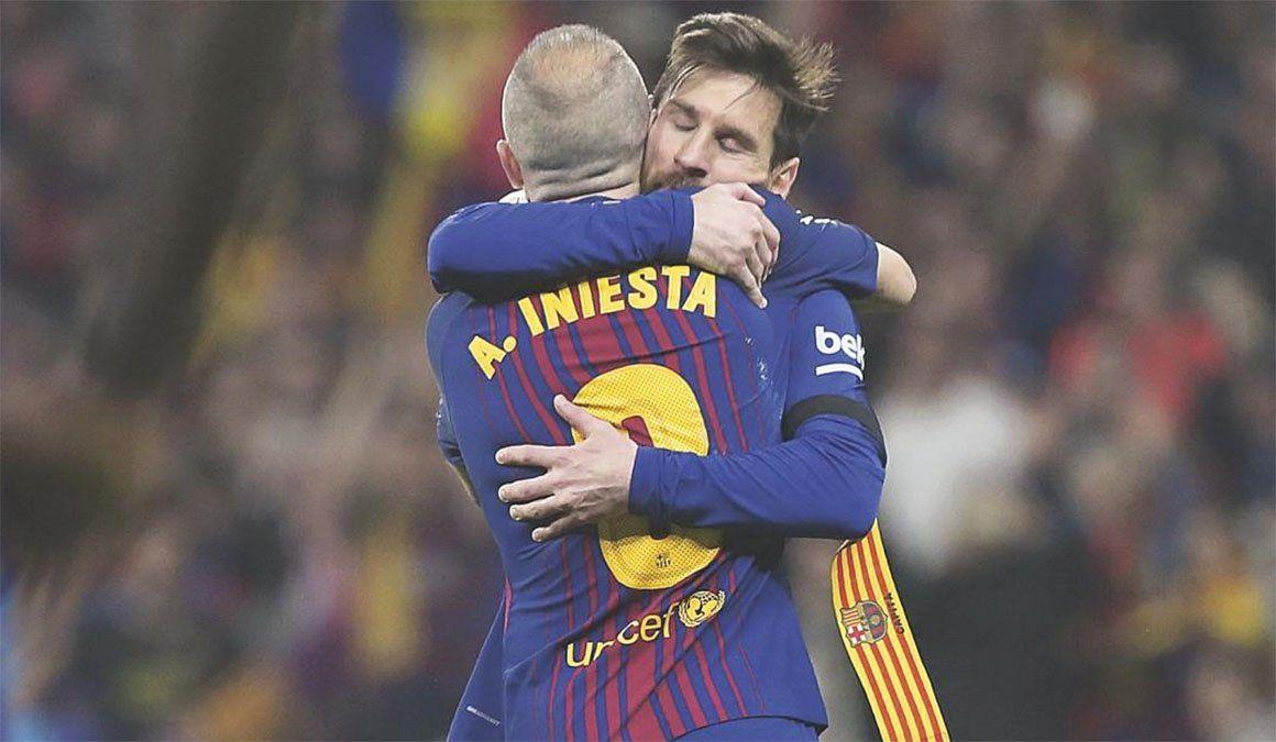 Iniesta y una impactante frase sobre Messi y el Barcelona