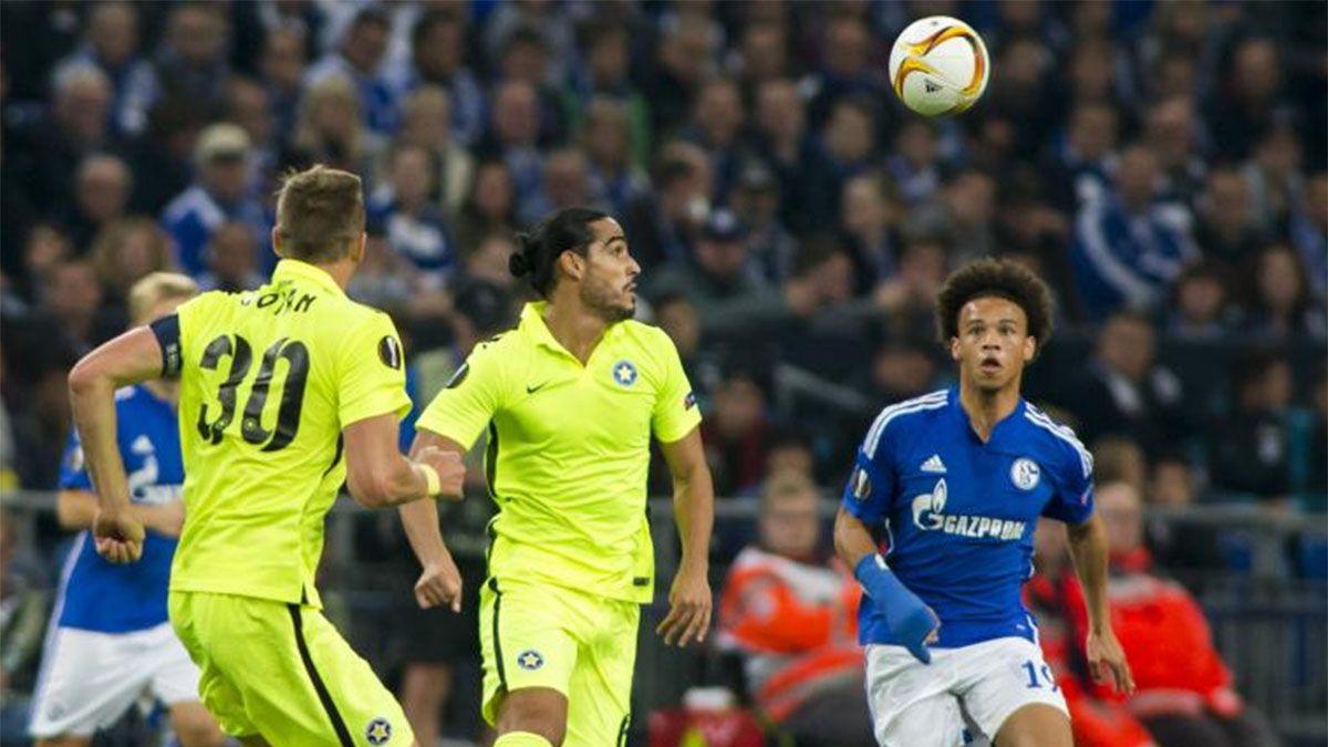En la Europa League. Es uno de los grandes torneos que jugó y enfrentó a Schalke 04.