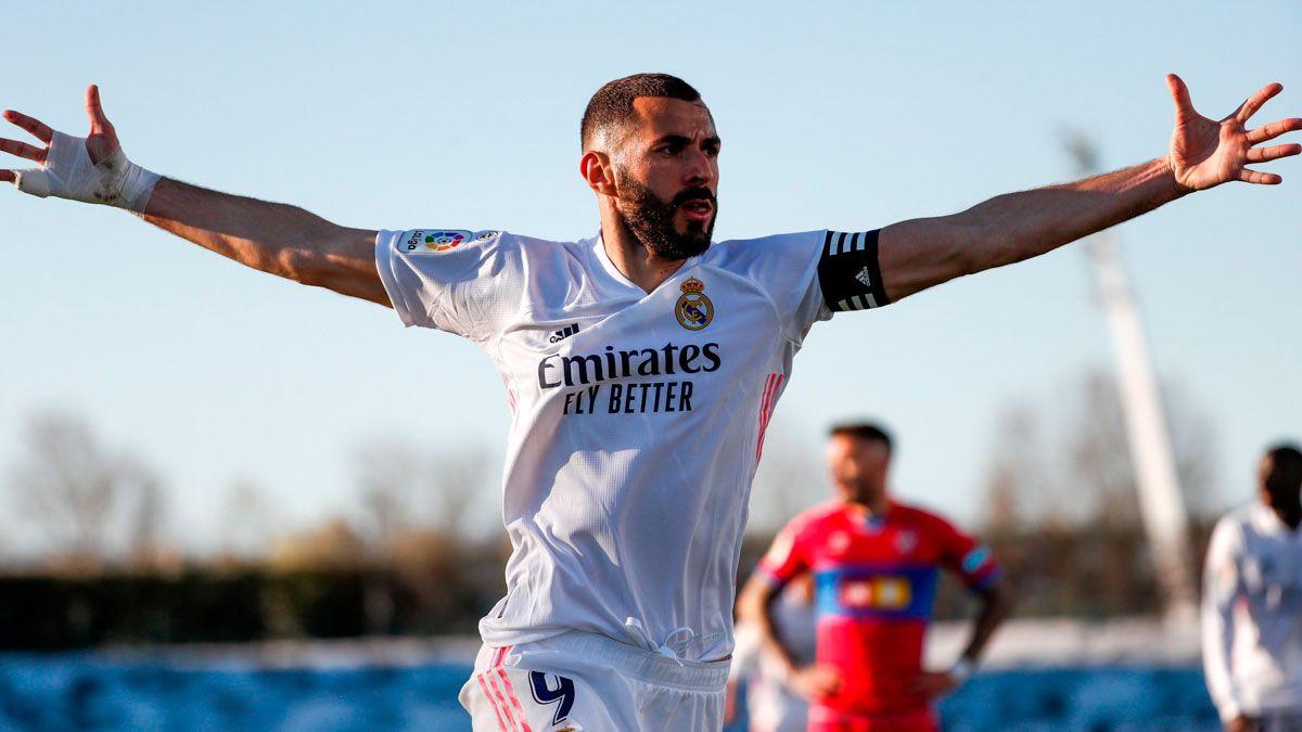 Benzema, con un doblete, logró la remontada del Real Madrid