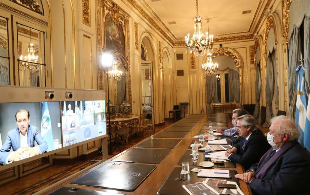 Reunión virtual. Alberto Fernández dialogó con 8 gobernadores