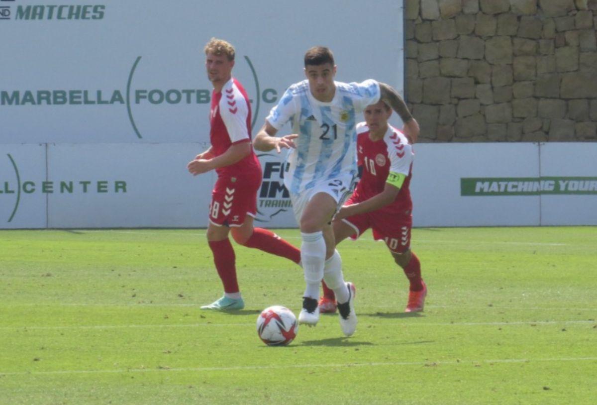 La Selección Argentina sub 23 venció a Dinamarca
