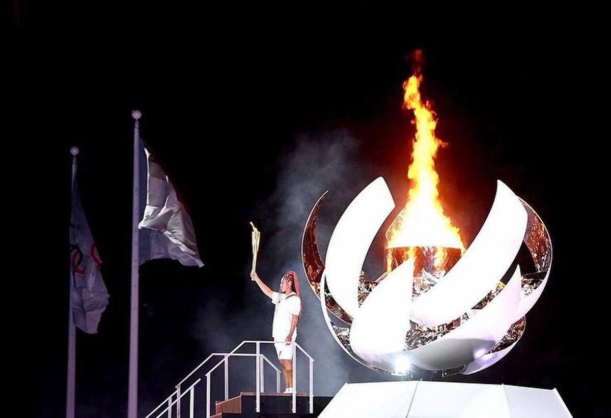 Naomi Osaka fue quién prendió la llama en los Juegos Olímpicos 2021.