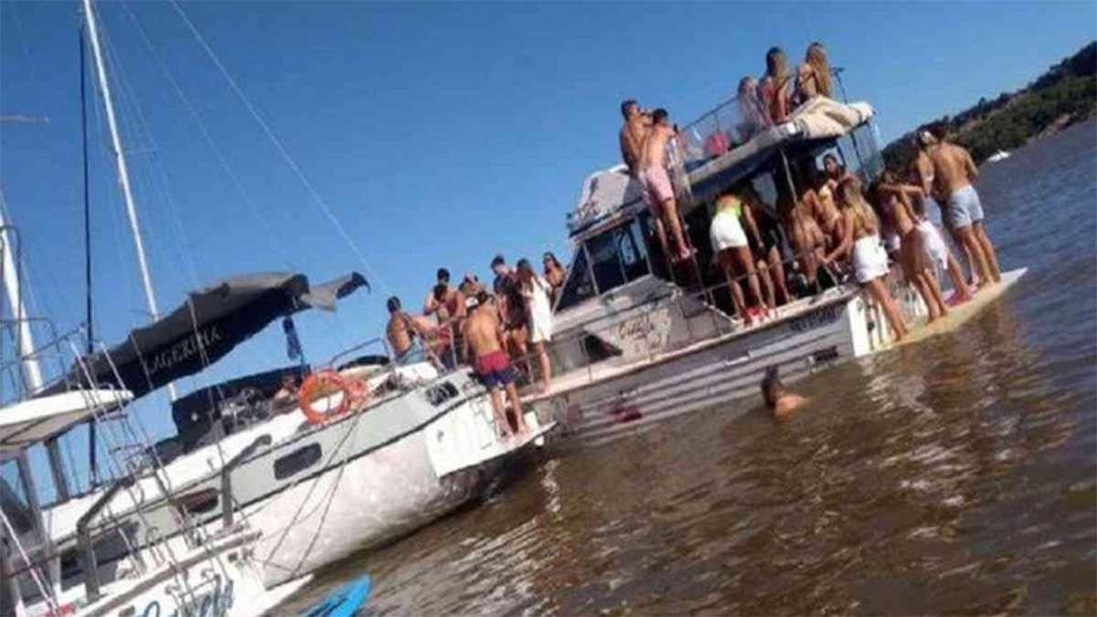 Insólito: hicieron una fiesta clandestina en un yate y casi se les hunde