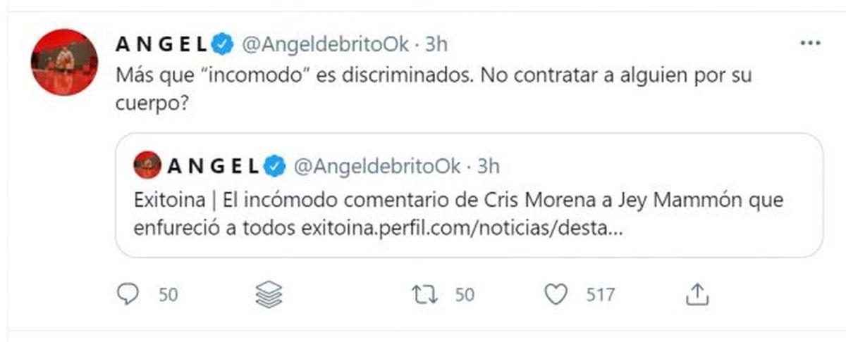 Cris Morena trató de gordo a Jey Mammon, y Ángel de Brito la liquidó