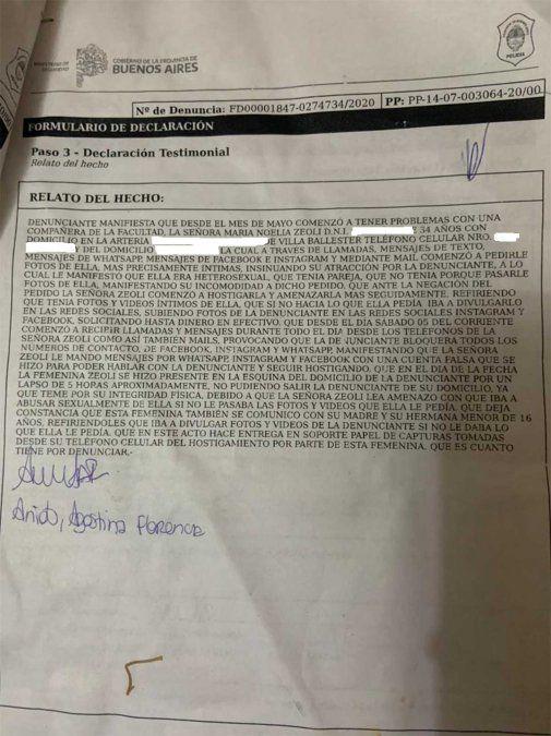 La denuncia está radicada en Vicente López. La joven de 25 años denunció a su psicóloga por acoso