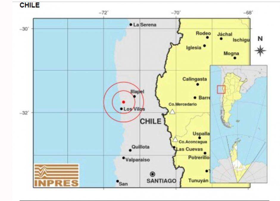 Un temblor de 5.4 grados tuvo epicentro en Los Vilos