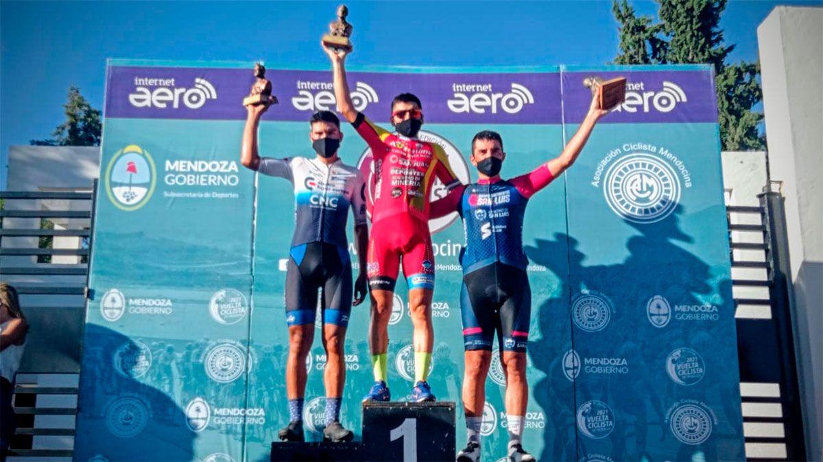 Nicolás Naranjo ganó la sexta etapa de la Vuelta de Mendoza. (Gentileza Asociación Ciclística Mendocina).
