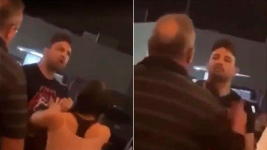 Un luchador de UFC perdió el control y golpeó a un señor mayor en un bar