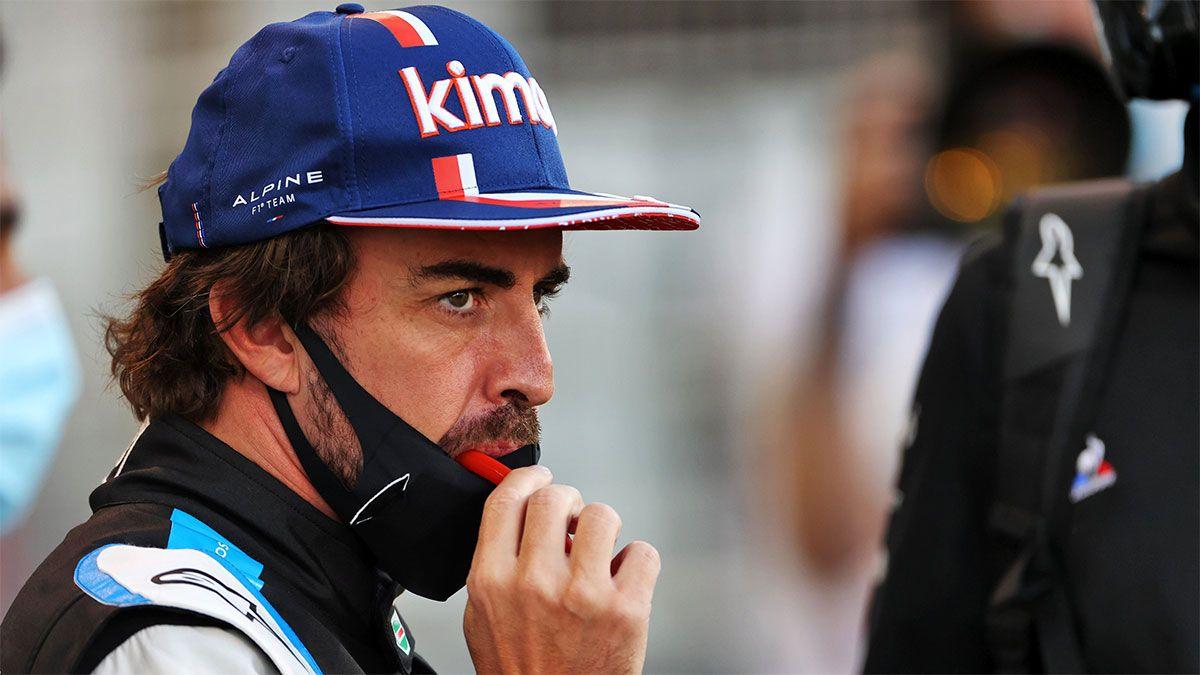 Fernando Alonso fue amargado por un envoltorio de sándwich