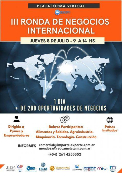 La FEM junto con CAME realizarán la tercera edición de la Ronda Internacional de Negocios el 8 de julio en formato virtual.