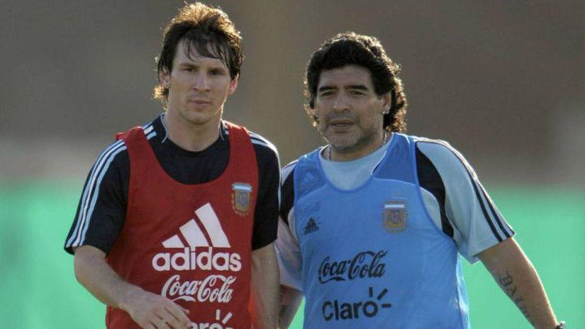 Messi despidió muy conmovido a Maradona