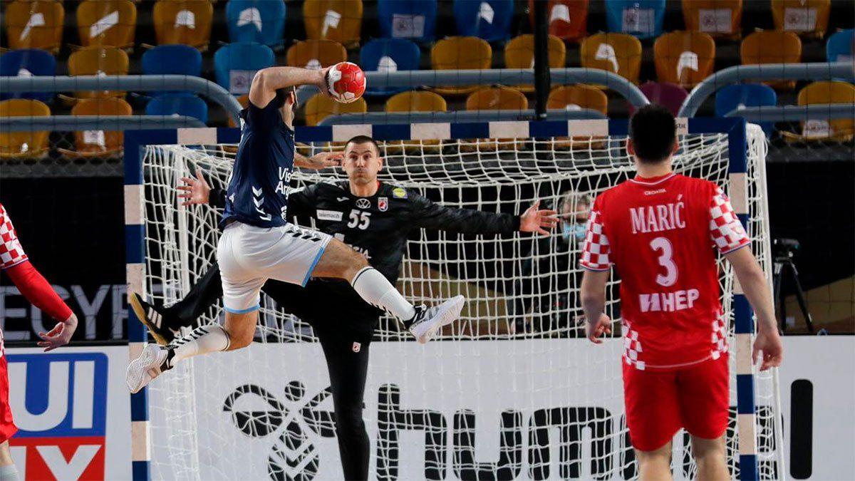 Los Gladiadores vencieron a Croacia y están a un paso de los cuartos de final. (Gentileza IHF).