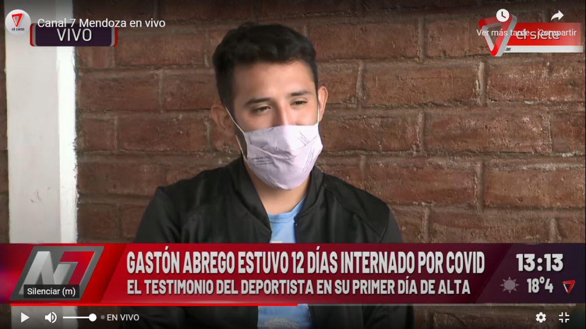 Gastón Abrego ya está en su casa. Perdió a su papá