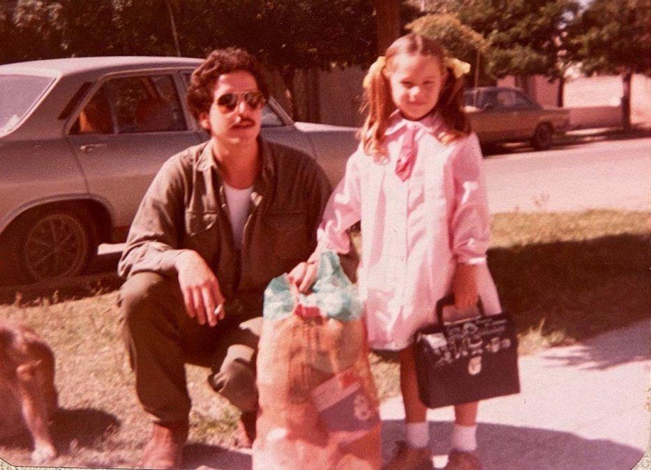 Pampita impactó con su foto de nena: Igual a Blanquita