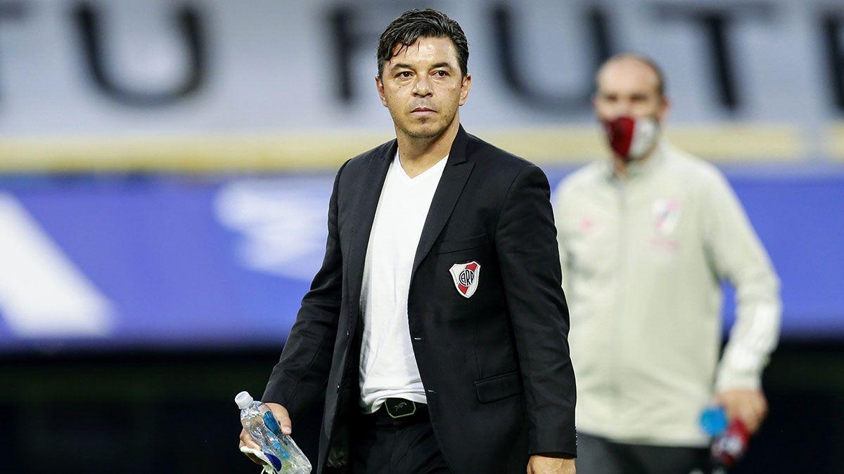 Marcelo Gallardo y una enérgica reacción tras el gol de Boca