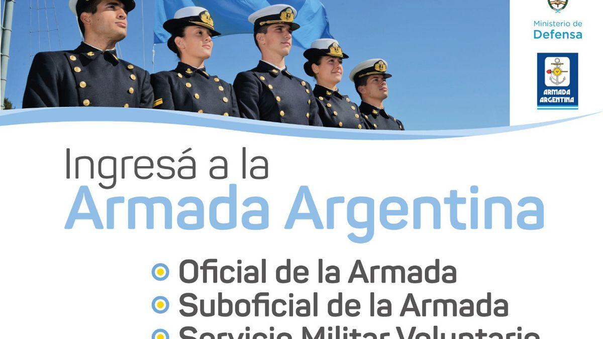Inscriben en Luján para ingresar a la Armada Argentina