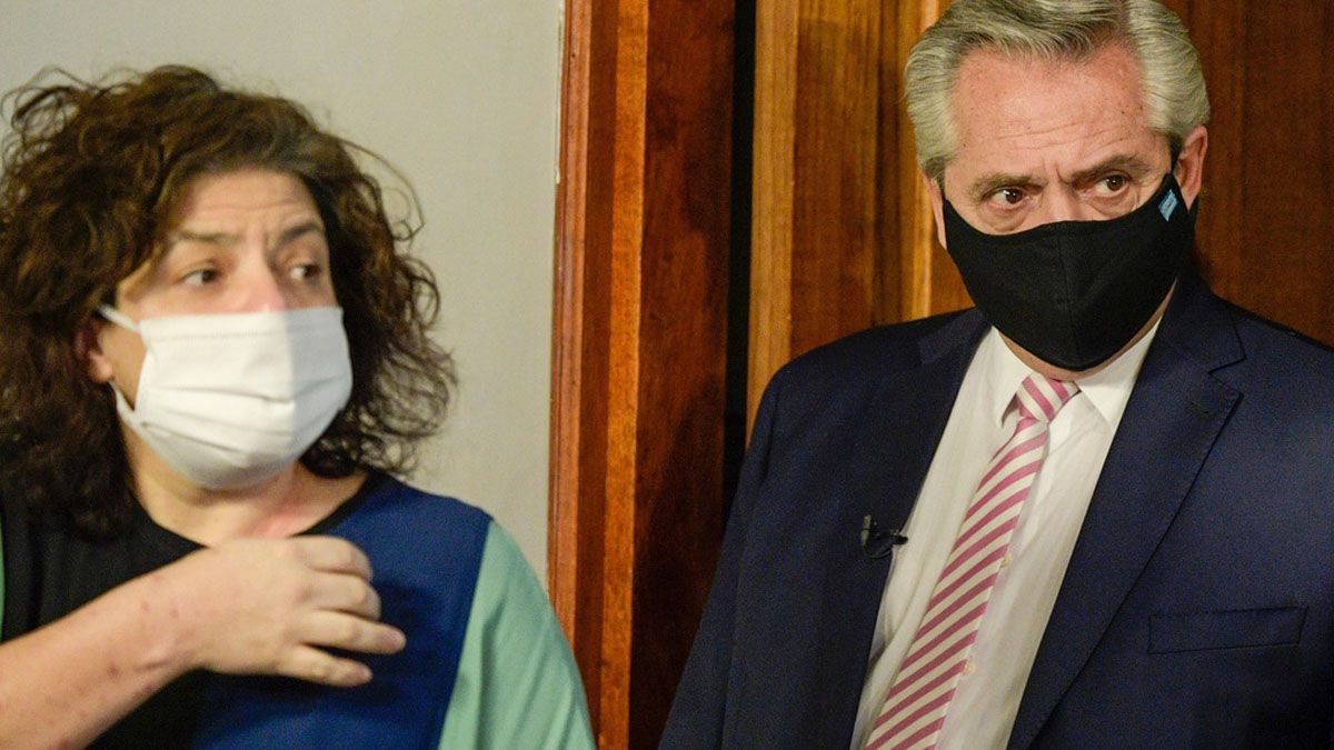Carla Vizzotti y Alberto Fernández.