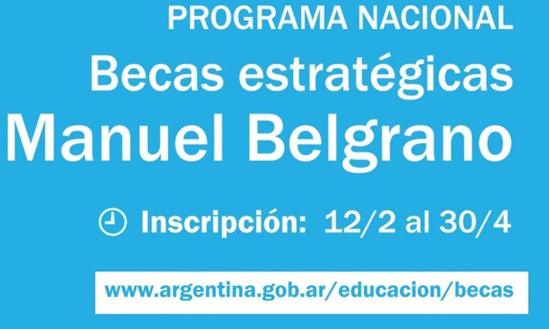 Becas Manuel Belgrano: inscripción para cobrar unos $20.000