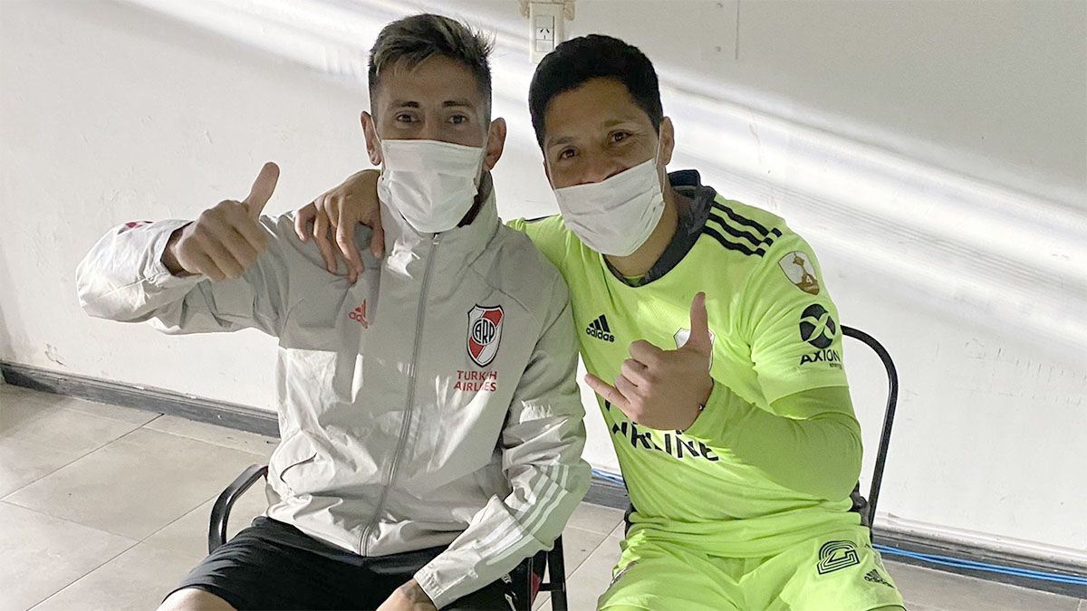 Angileri sacó chapa con una foto junto a Enzo Pérez