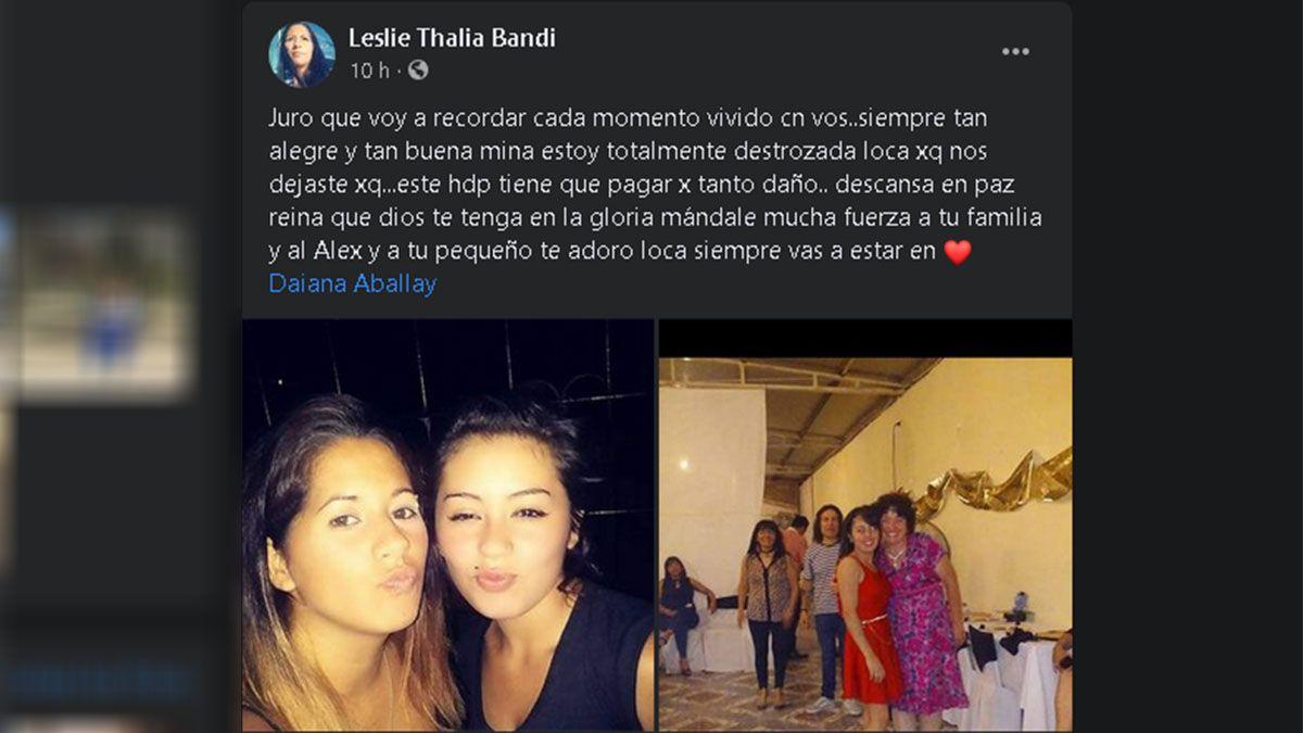 Femicidio: tristeza en las redes por el crimen de Daiana Aballay