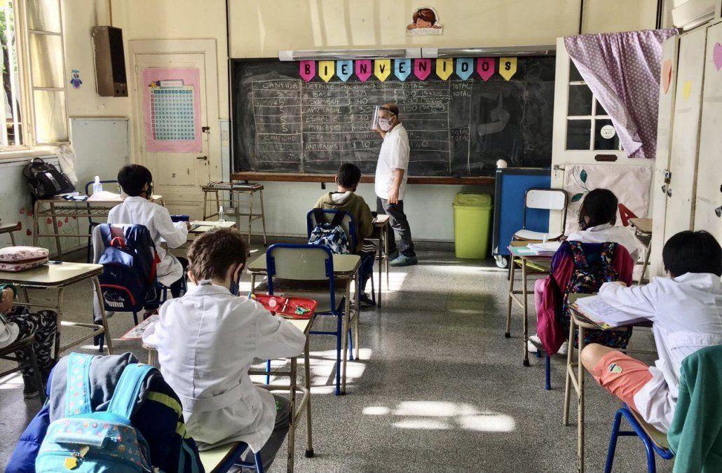 Este lunes hubo clases presenciales en Ciudad de Buenos Aires. Es incierto qué sucederá en los próximos días.
