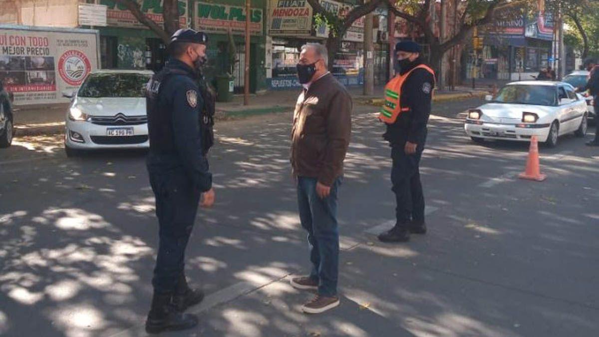 El ministro Raúl Levrino estuvo supervisando los operativos.