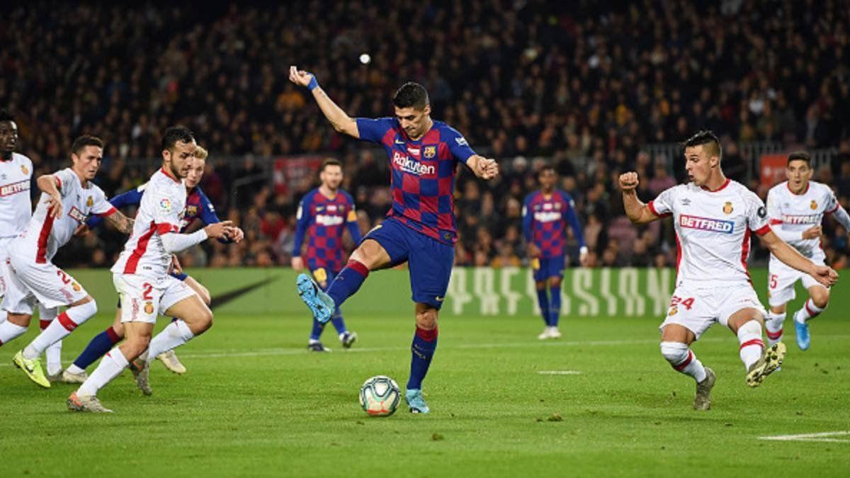 El taco de Suárez contra el Mallorca es uno de los goles nominados.