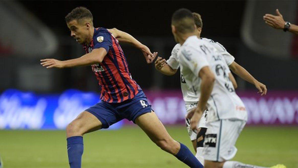 San Lorenzo se esforzó, empató con Santos y fue eliminado