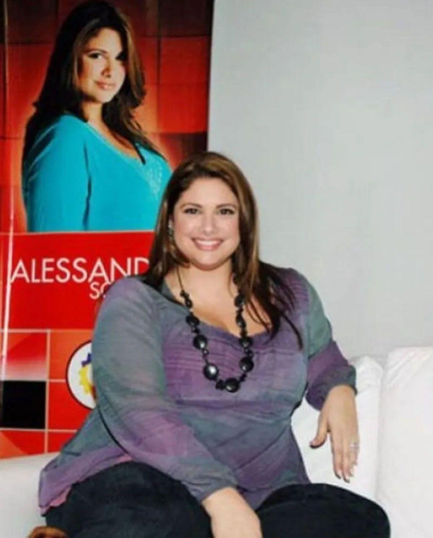 La lucha de Alessandra Rampolla contra la obesidad. Celebró 10 años de la operación