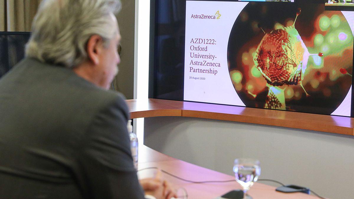 El Presidente afirmó que hay un acuerdo con Oxford y AstraZéneca para producir la vacuna en la Argentina.