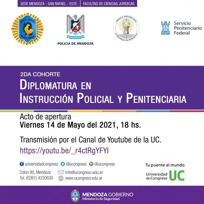 Comienza la 2da Cohorte de la Diplomatura en Instrucción Policial y Penitenciaria en la Universidad de Congreso