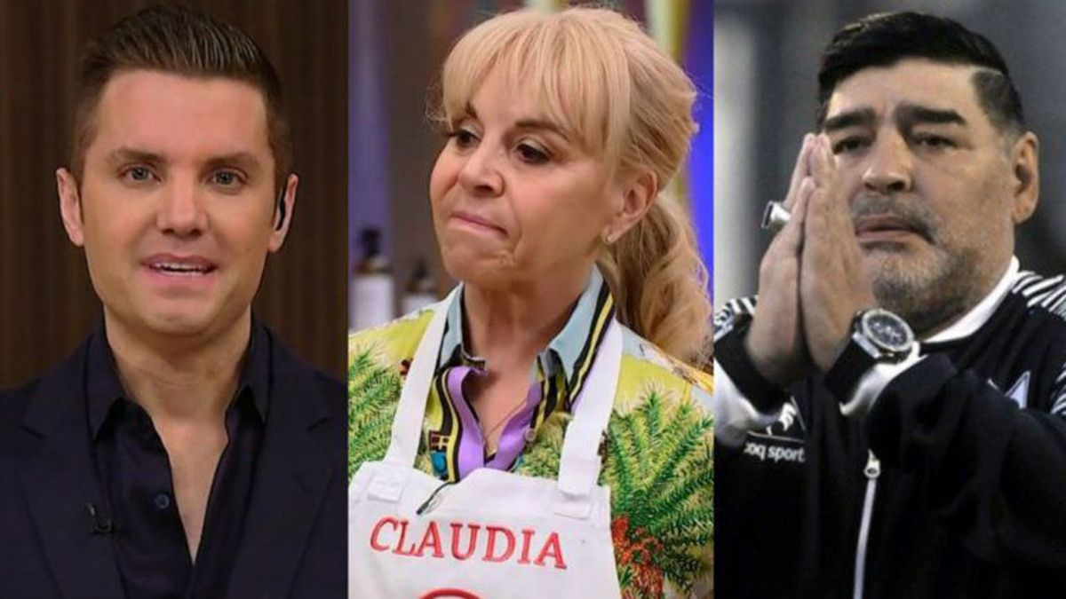 Santiago del Moro le preguntó a Claudia Villafañe sobre sus cábalas e hizo referencia a Maradona.