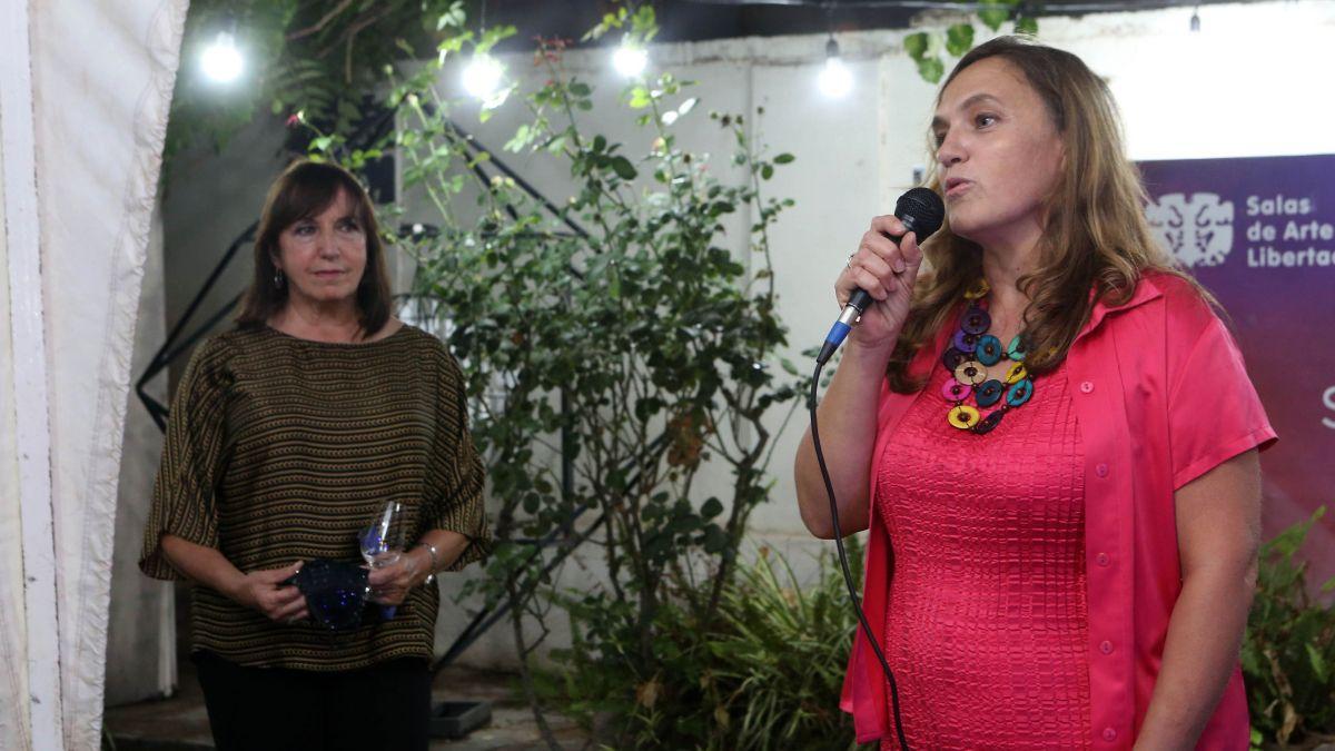 En el acto de apertura de las Salas de Arte Libertad estuvo presente la hija del artista que expone